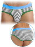 Modus Vivendi - Striped Flash Brief - Grau