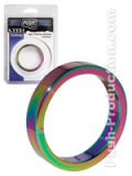 Push Steel - High Polished Rainbow Cockring - 10mm - B-Ware 40mm
